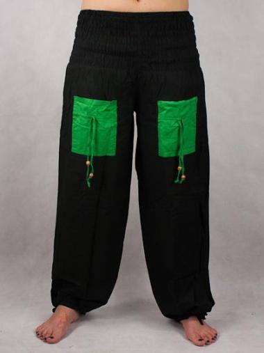 cc9d4a1df93f Turecké Nohavice Aladinky - Haremky - Zumba - čierno-zelené ...