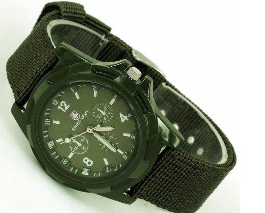 Gemius Swiss Army - módne pánske hodinky khaki - Selmars - Móda a doplňky  pre ženy