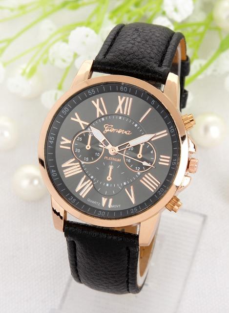 a083cbb7f Luxusné dámske hodinky Geneva Platinum Rome Black - Selmars - Móda a ...
