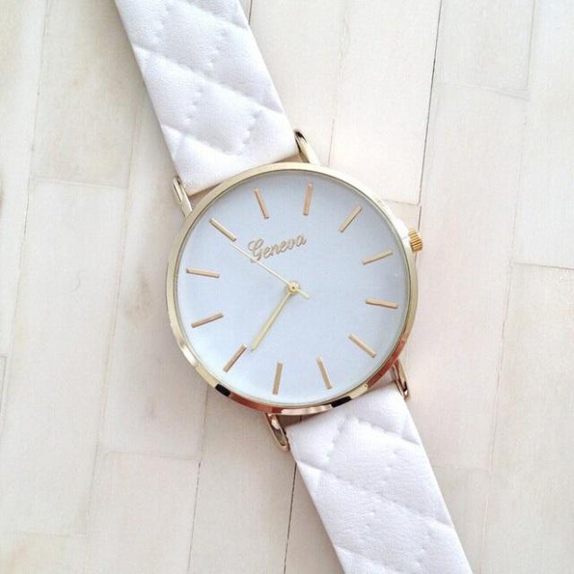 Luxusné dámske hodinky Geneva Platinum Vogue White - Selmars - Móda ... 7132bbf7537