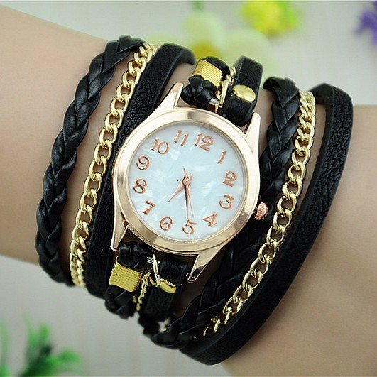 5d0850b67bd Trendy dámské hodinky s Retiazkou - čierne - Selmars - Móda a ...