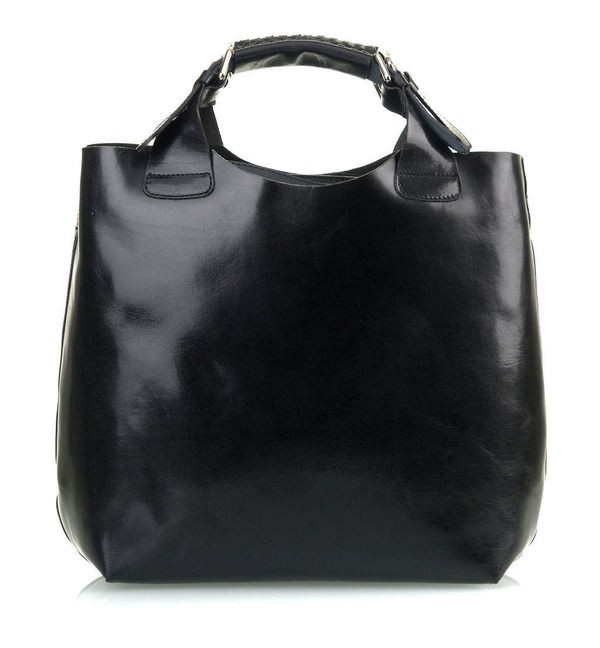 484334427d Luxusná Talianska Kožená Kabelka Shopper Bag Vera Pelle A4 - Čierna ...
