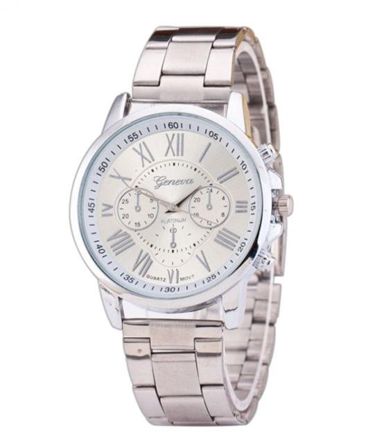 Luxusní dámské hodinky Geneva strieborne rimske čisla - Selmars ... 04fcfabf527