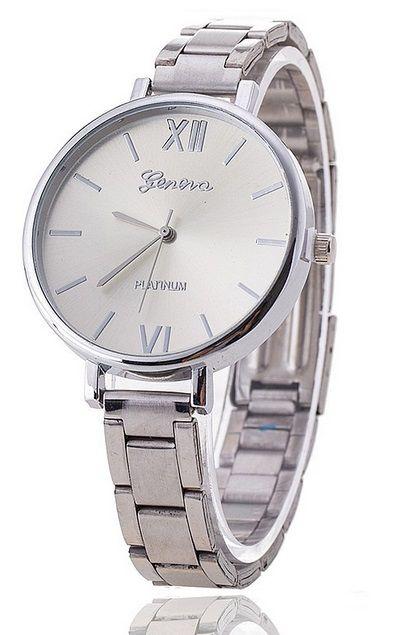 Luxusní dámské hodinky Geneva Slim strieborne - Selmars - Móda a ... 9ca6b69e95b