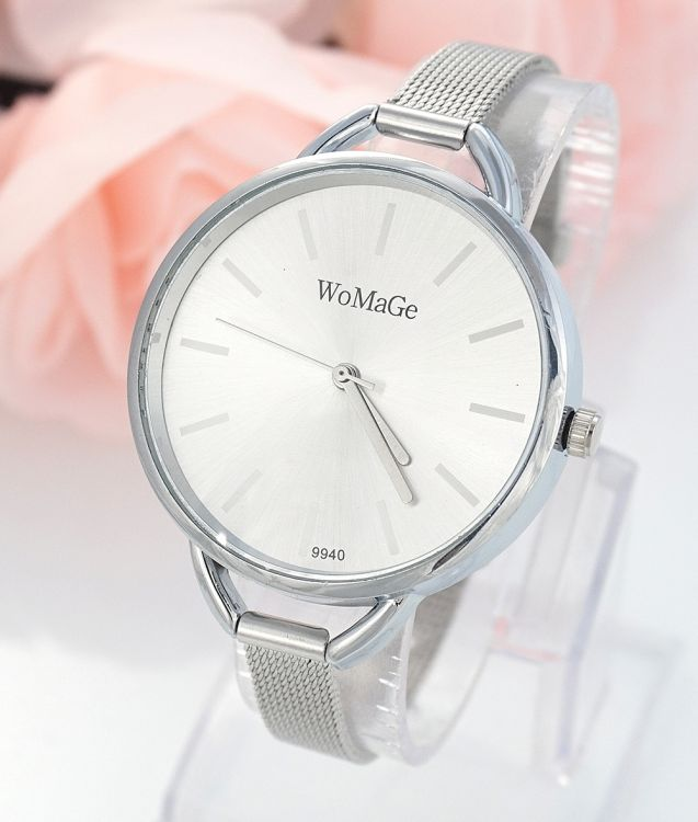 Luxusní dámské hodinky Womage Slim strieborne - Selmars - Móda a ... 2b248f94629