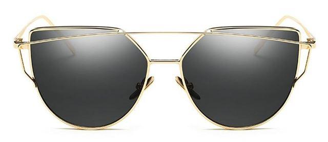 0fe87b195 Luxusné Slnečné Okuliare Zrkadlové Glam Rock Mačacie - Čierne ...