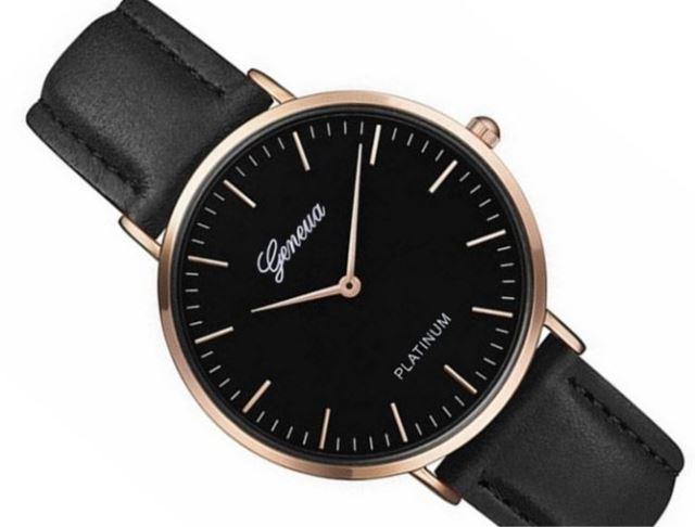 Luxusné dámske hodinky Geneva Platinum - čierne black - Selmars ... b58dba743f6
