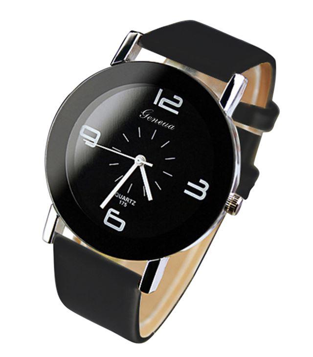 Luxusné dámske hodinky Geneva Black Modern - Selmars - Móda a ... ccc587943db