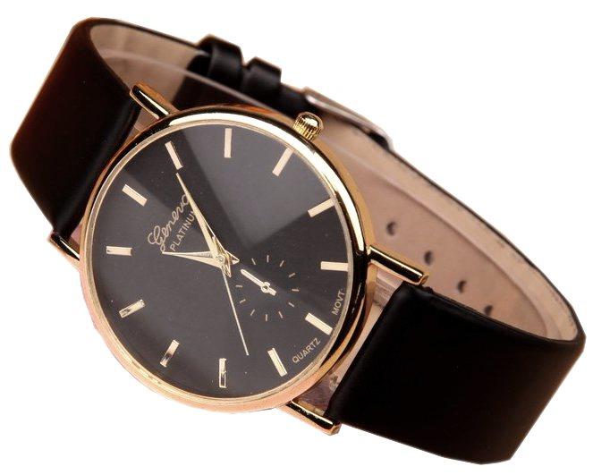 Luxusné dámske hodinky Geneva Platinum Classic Black - Selmars ... 6e1db774814