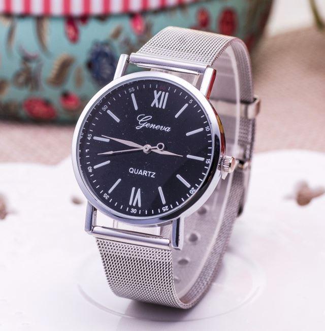 2353cd6a8 Luxusní dámské hodinky Geneva Silver & Black - Selmars - Móda a ...