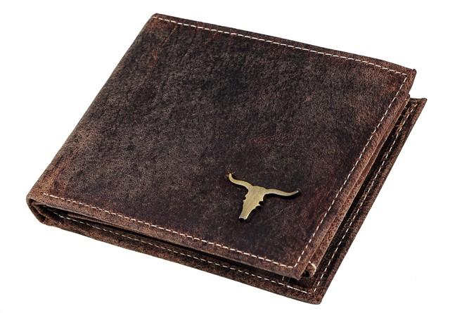4563a6c58f Elegantná Panská Kožená Peňaženka Vintage Buffalo hneda RM02BAW ...