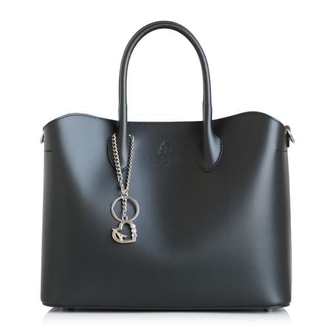 4c2c62546639 Luxusná Talianska Dámska Kožená Kabelka - čierna (25-sk912 ...