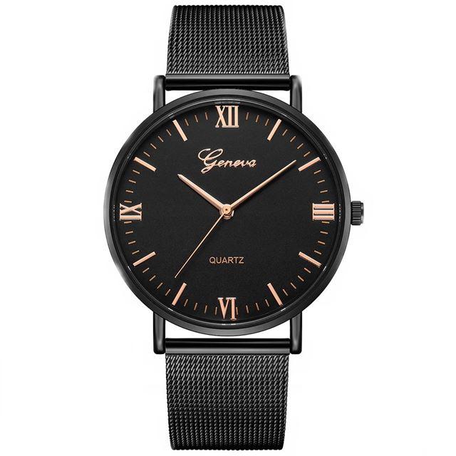 61a5b67d3 Luxusné dámske kovove hodinky Geneva Mesh Black - Selmars - Móda a ...