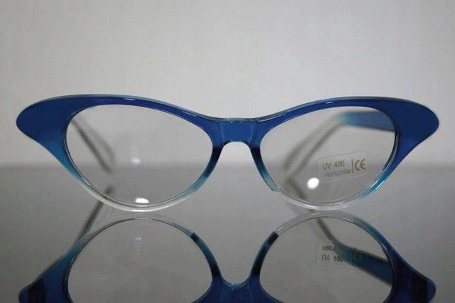 2bc05c029 Luxusné RETRO okuliare CAT EYES Shadow Číre sklá - modre - Selmars ...