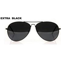 ... Štýlové Slnečné Okuliare Aviator - extra čierne Pilotky 3272ce5dc66