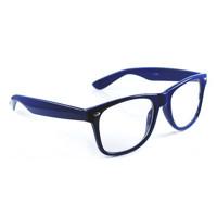 ... Retro Okuliare WAYFARER - Číre sklá - Modre 22ee6ceef3e
