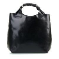 ... Luxusná Talianska Kožená Kabelka Shopper Bag Vera Pelle A4 - Čierna 56697f36c97