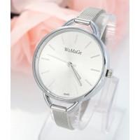 e440a44fc BOMBA; Luxusní dámské hodinky Womage Slim strieborne