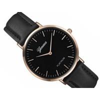 5cd50d638 AKCIA; Luxusné dámske hodinky Geneva Platinum - čierne .