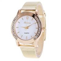 db941b68920f NOVINKA  Luxusné dámske hodinky Geneva Zlate s Zirkony (B..