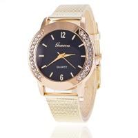26291ac00cf1 ... Luxusné dámske hodinky Geneva Zlate s Zirkony (BZCyrB)