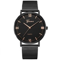 ... Luxusné dámske kovove hodinky Geneva Mesh Black 615da4a5cfa