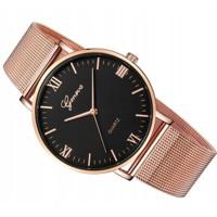 727565f0842e ... Luxusné dámske hodinky Geneva růžove zlato Rose